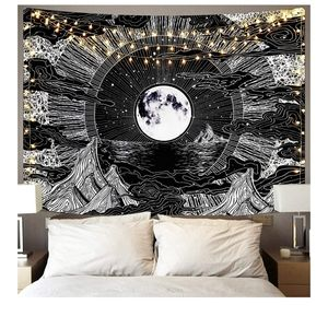 NEW Psychedelic Mountain Moon Tapestry